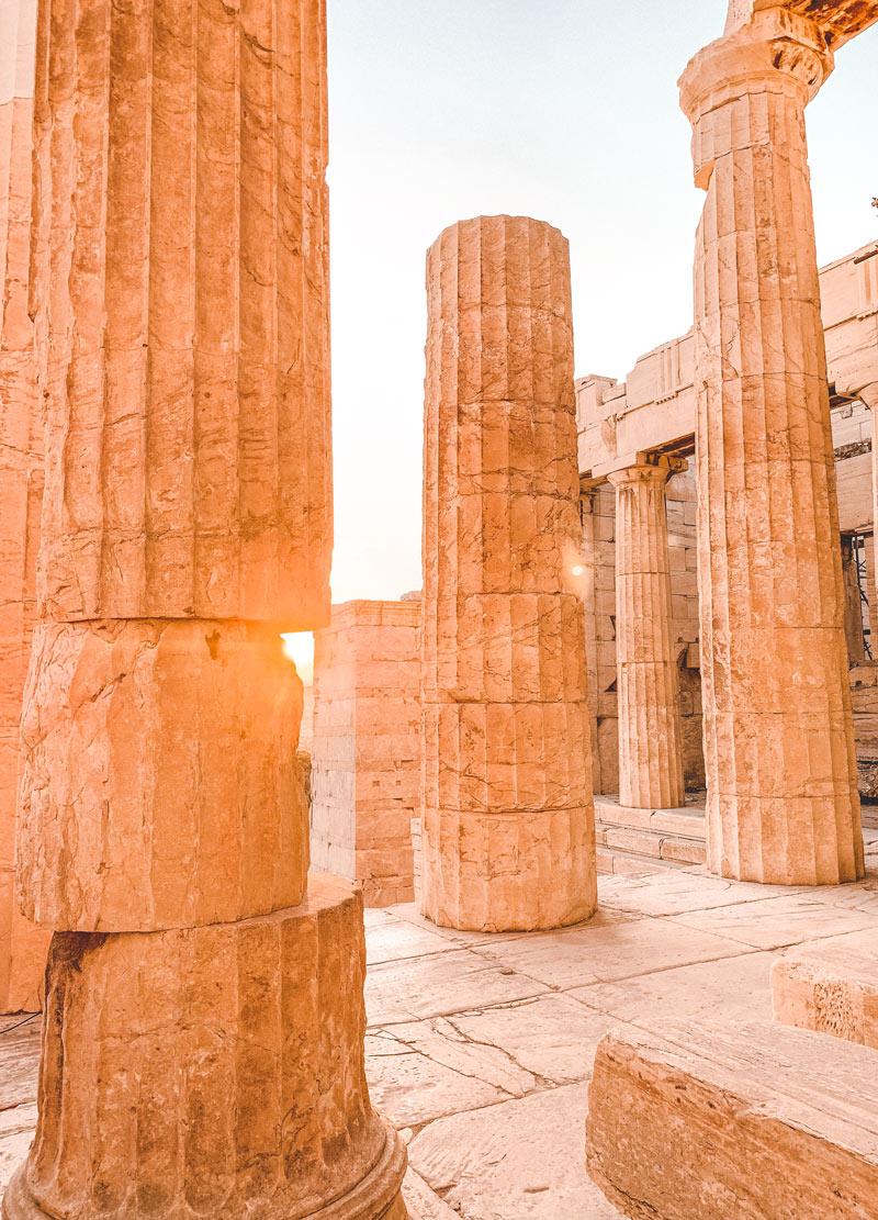 Athens Acropolis Sunset
