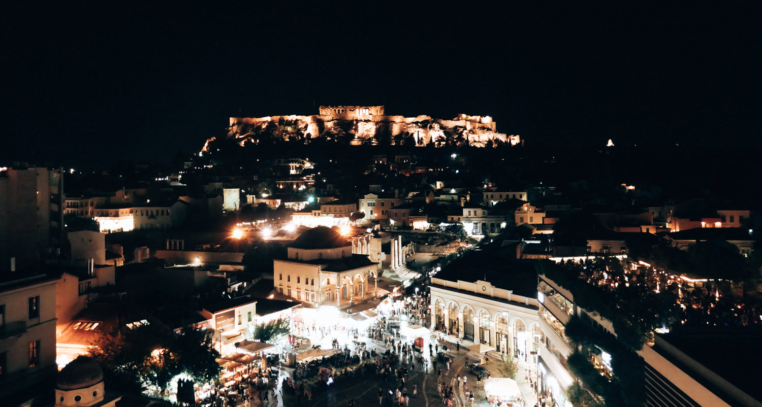Athens by Night Monastiraki and Acropolis