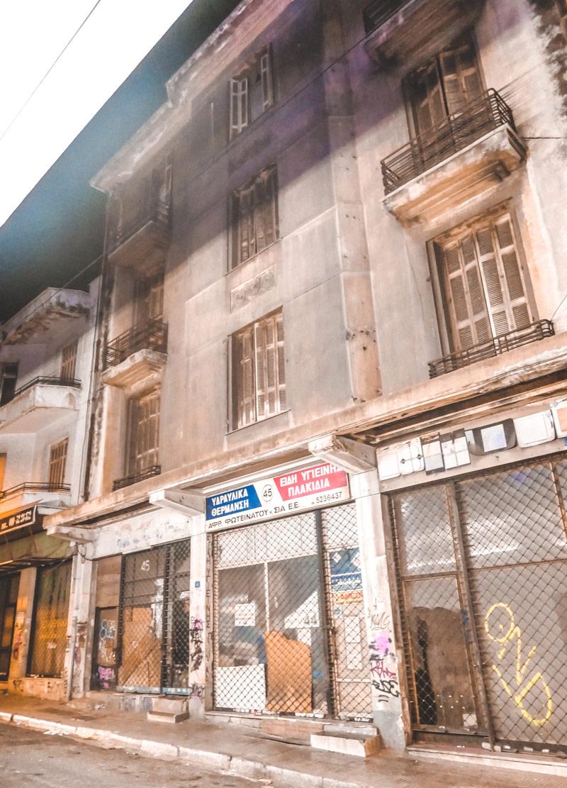 Closed Shops Athens Crisis