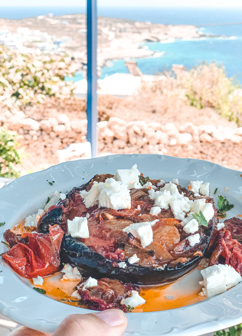 Food in Donoussa Stavros