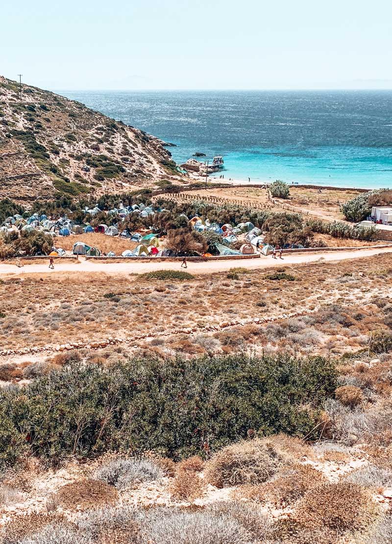 Free Camping In Kedros Beach Donoussa Island