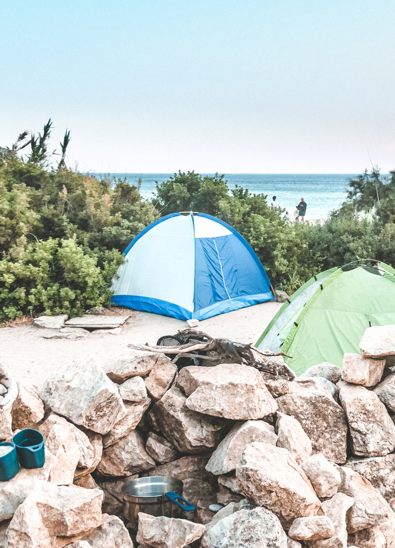 Free camping in Donoussa Greece