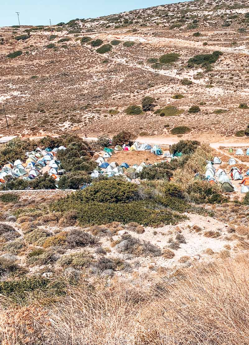 Free camping in Kedros Beach