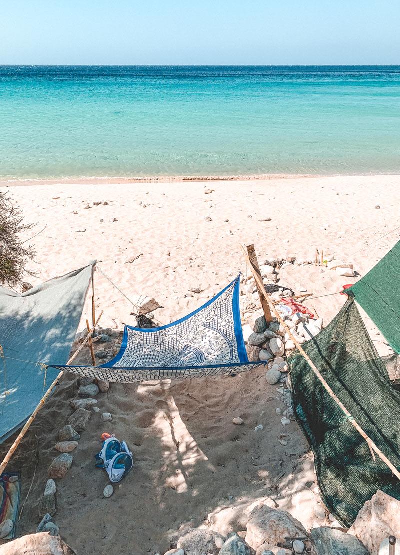 Free camping in Livadi Donoussa Beach