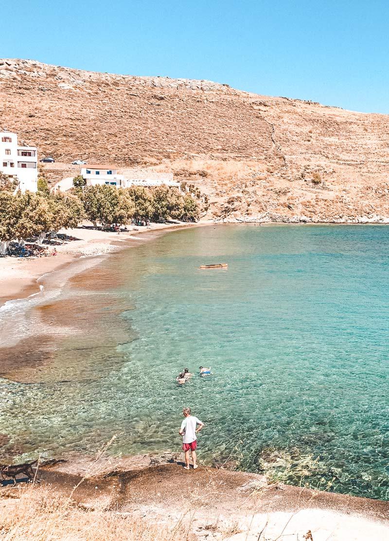 Lefkes Beach Kythnos