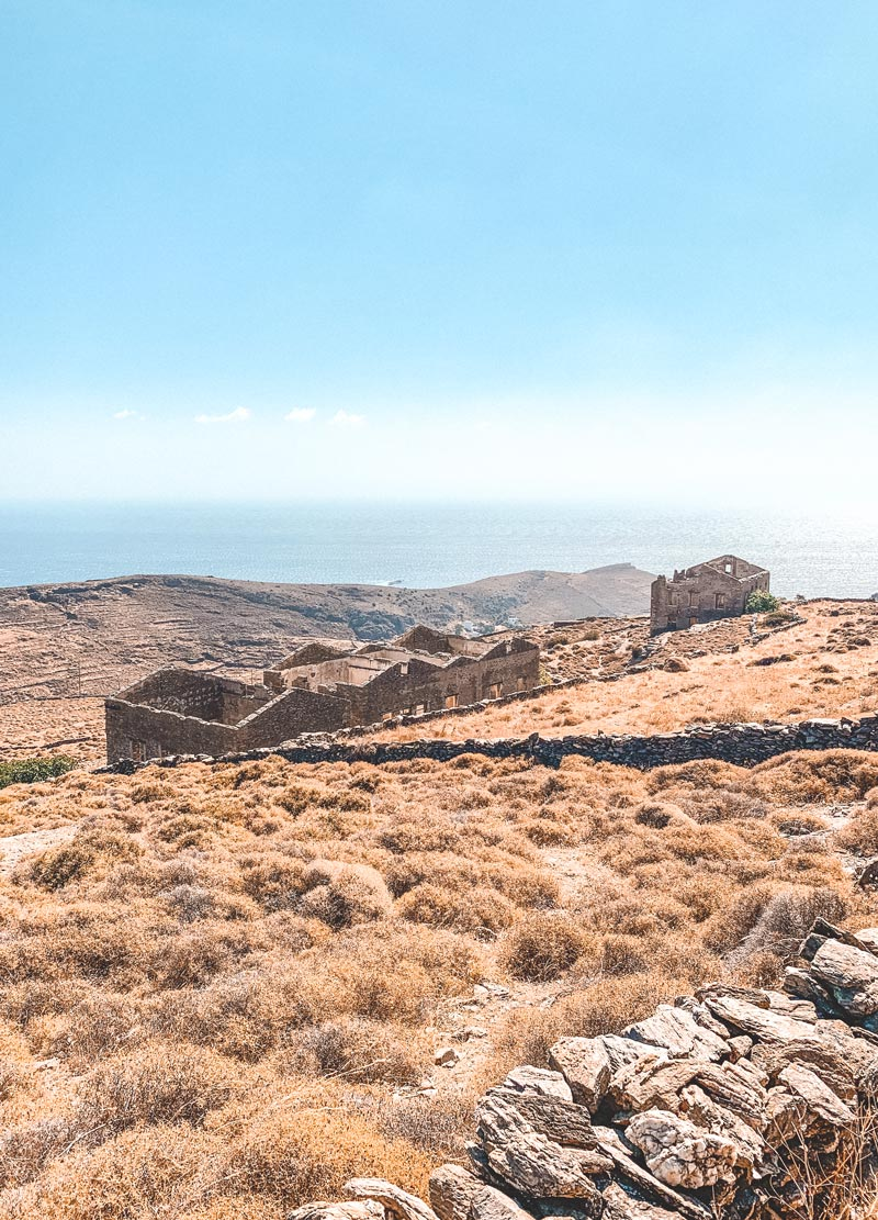 Lefkes Village Kythnos Island Greece