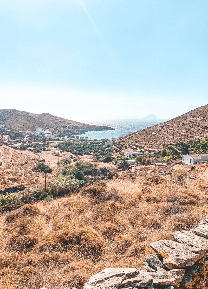 Lefkes Village in Kythnos Island