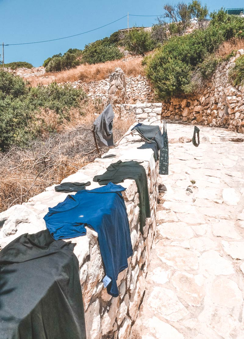 Washing Clothes in Mersini Spring Donoussa