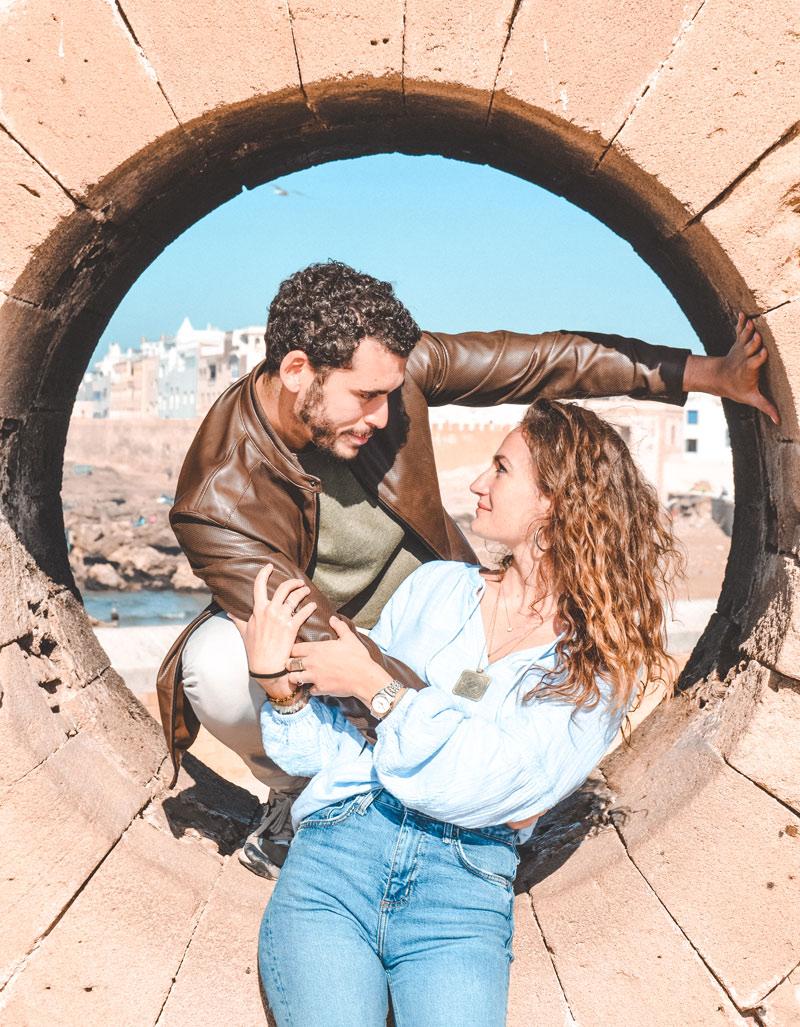 Digital nomad couple morocco