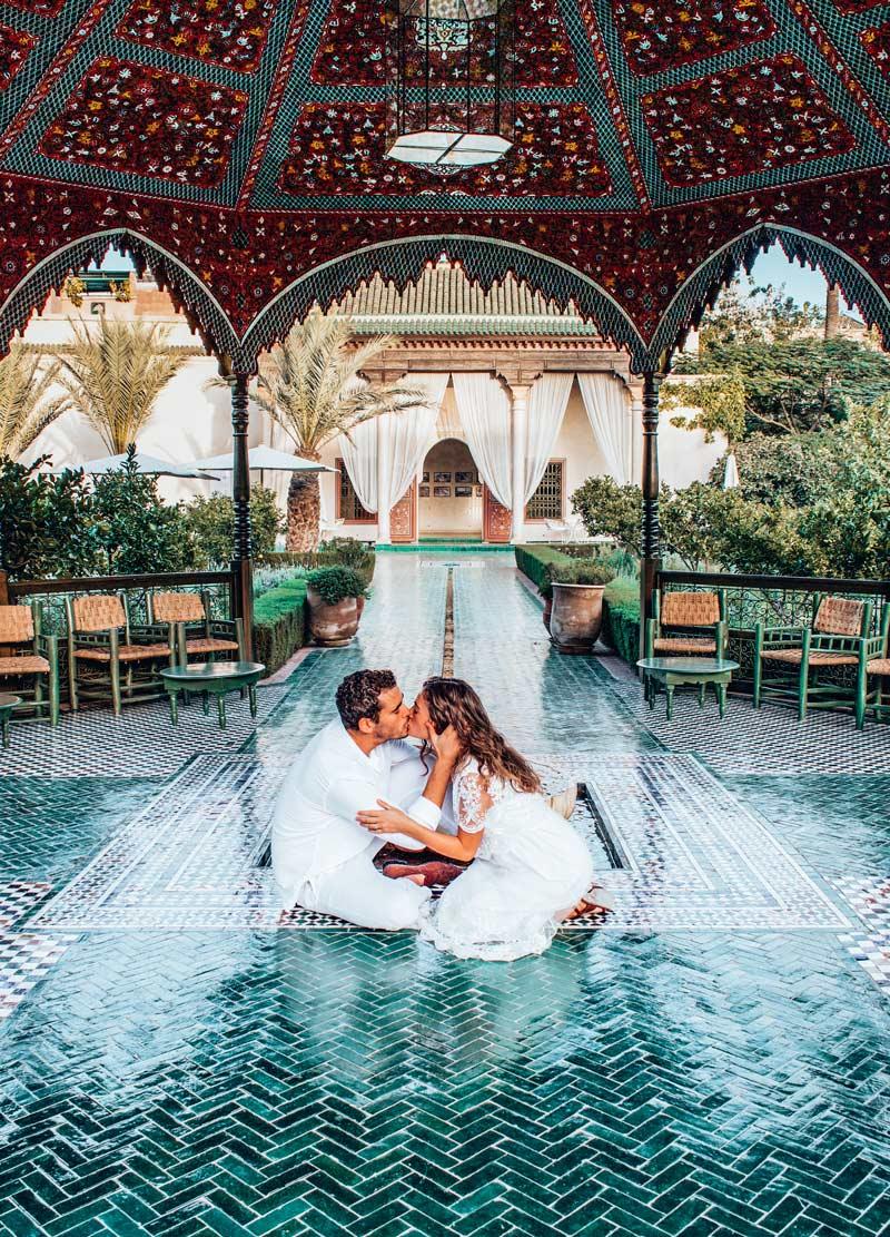 Jardin secret digital nomad couple