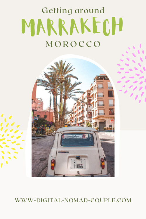 Pin-How to get around morocco marrakech