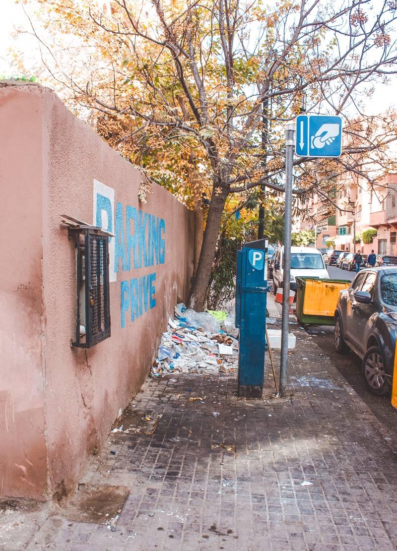 Trash in marrakech streets