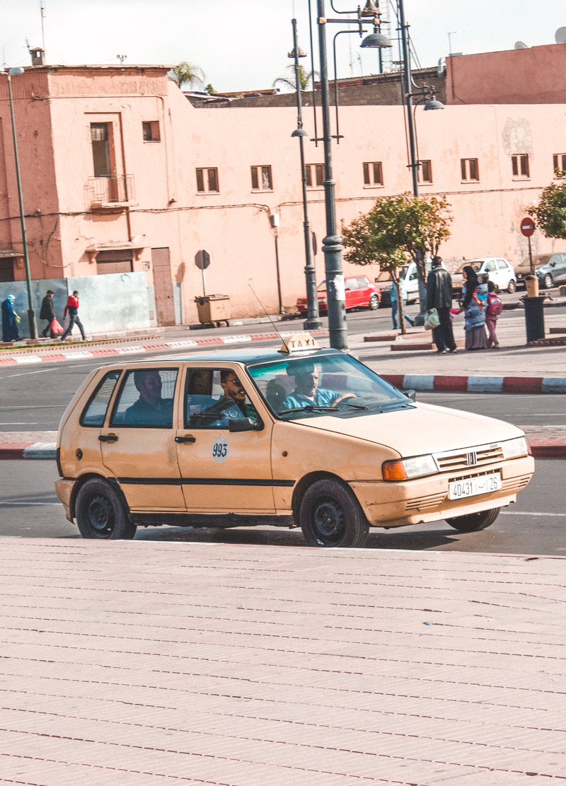 old taxi in morocco